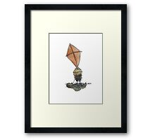 Kite Head Boy Framed Print