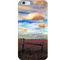Fields Under a Swirling Sky iPhone Case/Skin