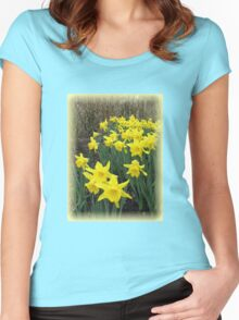 Easter Daffodils Vignette Women's Fitted Scoop T-Shirt