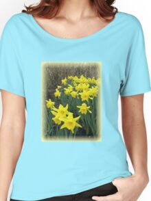 Easter Daffodils Vignette Women's Relaxed Fit T-Shirt