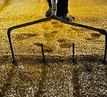 Raking malted barley by Jaime Pharr