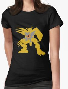 Digimon Agumon warp digivolve to WarGreymon Womens Fitted T-Shirt