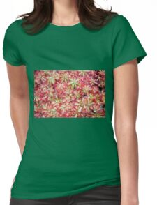 Sundew plant Womens Fitted T-Shirt