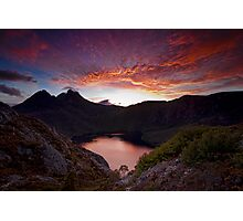 Fiery Cradle Mountain Photographic Print