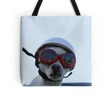 Chihuahua and the Bike Safety Message Tote Bag