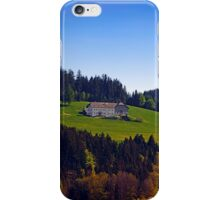 A farm, blue sky and some panorama | landscape photography iPhone Case/Skin