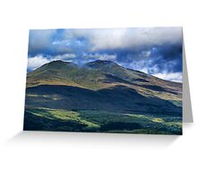 Beinn Ghlas and Ben Lawers Greeting Card