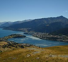 Queenstown View, Lake by SaraSaxton