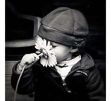...don't forget to smell the flowers... Photographic Print