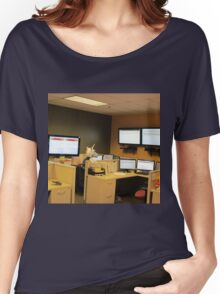 Unicorn in a cubicle #1 - the death of magic Women's Relaxed Fit T-Shirt