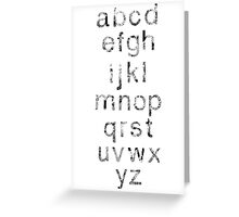 Helvetica Map Letters Greeting Card