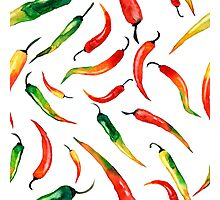 - Chilli patter (white) - Photographic Print