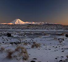 Mt Ngauruhoe, Sunrise. by Michael Treloar