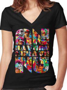 NU-RAVE-NU Women's Fitted V-Neck T-Shirt