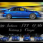 '99 Subaru STI GM8 Version 5 Coupe by PjSPhotography