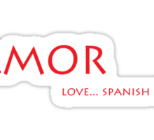 Amor - love... spanish style Sticker