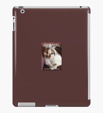 This Is Not Amusing by Diamante Lavendar iPad Case/Skin