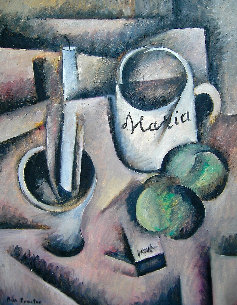 Still-Life with Maria's cup. by Bill Proctor
