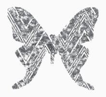 Black and White Gray Chevron Geometric Arashi Shibori Style Luna Day Moon Moth Butterfly Actias Kids Clothes