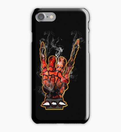 HEAVY METAL HAND SIGN - hellfire iPhone Case/Skin