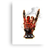 HEAVY METAL HAND SIGN - hellfire Canvas Print