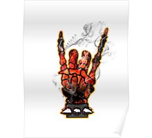 HEAVY METAL HAND SIGN - hellfire Poster