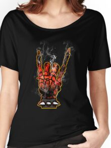 HEAVY METAL HAND SIGN - hellfire Women's Relaxed Fit T-Shirt