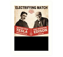 Edison vs Tesla Art Print