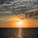 Sun Setting over the Aegean by Barbara  Brown
