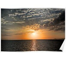 Sun Setting over the Aegean Poster