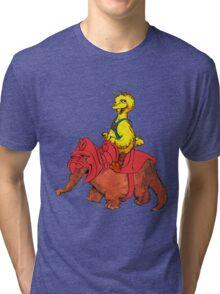 He-Bird and Battle Snuffy Tri-blend T-Shirt