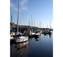 Boats Blue Photographic Print