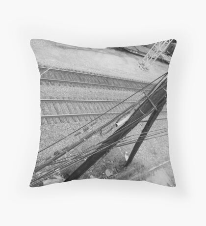 Trainyard Infrastructure Throw Pillow