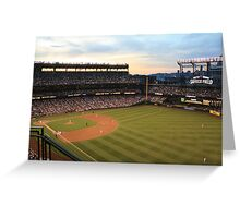 Sunset at Safeco Greeting Card