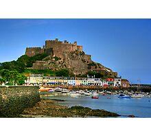"""""""Mount Orgueil Castle, Gorey Harbour"""" Photographic Print"""