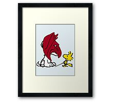 Battle Snoopy and He-Bird Framed Print