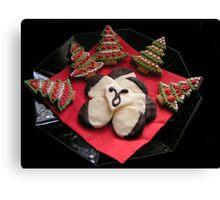 Gingerbread Christmas Trees & Mint Creams Canvas Print