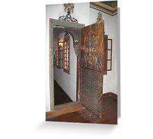 door  and window  to memisaga mension II Greeting Card