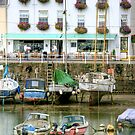"""""""Cafe' Parking at the Harbour"""" by Bradley Shawn  Rabon"""