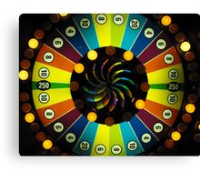 Colorful Arcade Game Canvas Print
