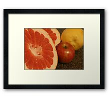 One Big Grapefruit! Framed Print