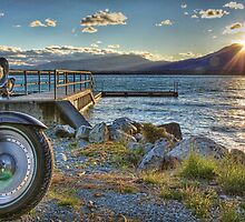 Port Bryson Jetty, Lake Ohau by Tony Burton