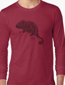 Karma Chameleon Zentangle Long Sleeve T-Shirt