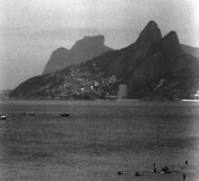 Two Brothers Hills and Gavea Rock by Guilherme Pontes