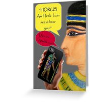 Cleopatra goes iPhone Greeting Card