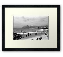 Ipanema Beach Goers Framed Print
