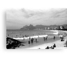 Ipanema Beach Goers Canvas Print