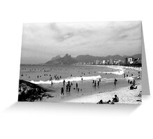 Ipanema Beach Goers Greeting Card