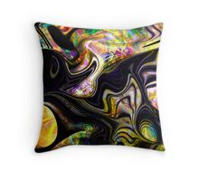 The involuted technicolour mushroom of dreams Throw Pillow