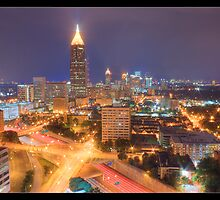 Atlanta at Night by rueD
